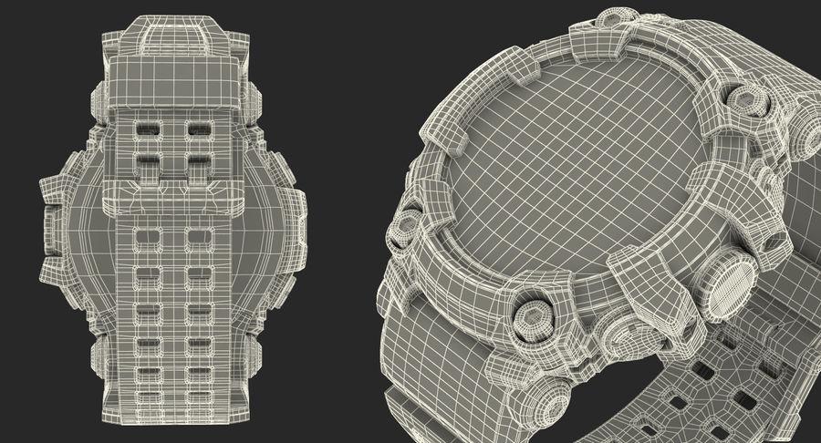 Водонепроницаемый Спорт Военные Часы Ударопрочный royalty-free 3d model - Preview no. 24
