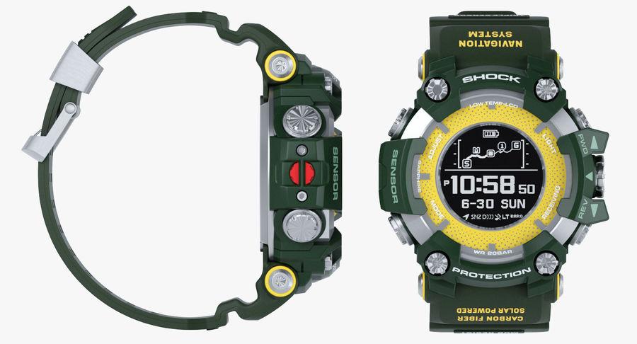 Водонепроницаемый Спорт Военные Часы Ударопрочный royalty-free 3d model - Preview no. 14