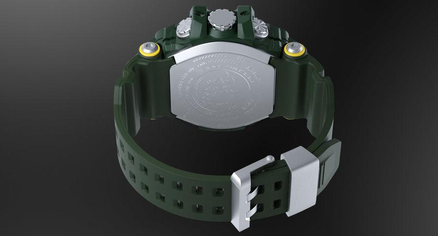Водонепроницаемый Спорт Военные Часы Ударопрочный royalty-free 3d model - Preview no. 4