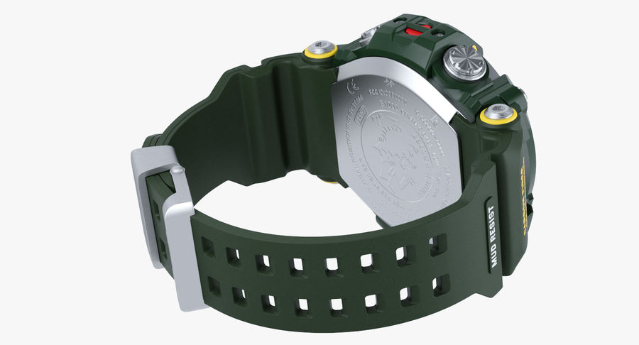 Водонепроницаемый Спорт Военные Часы Ударопрочный royalty-free 3d model - Preview no. 8