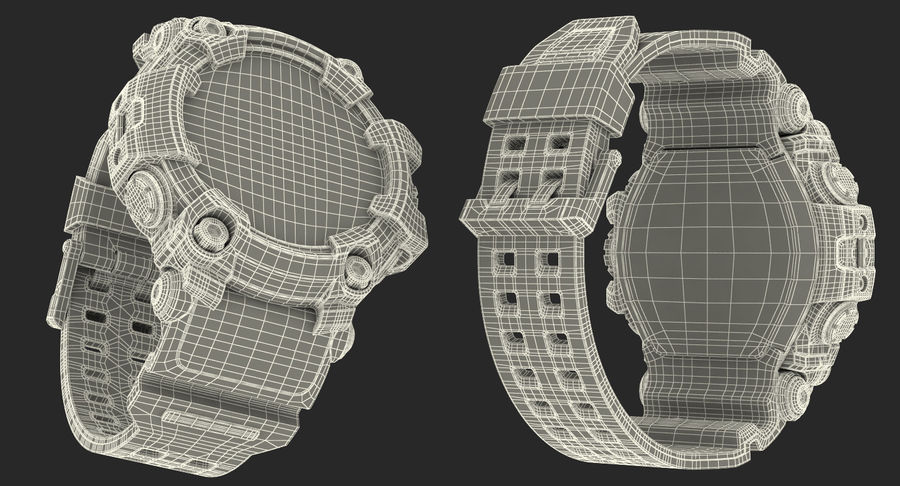 Водонепроницаемый Спорт Военные Часы Ударопрочный royalty-free 3d model - Preview no. 23