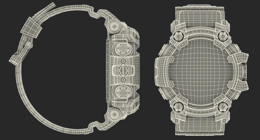 Водонепроницаемый Спорт Военные Часы Ударопрочный royalty-free 3d model - Preview no. 26