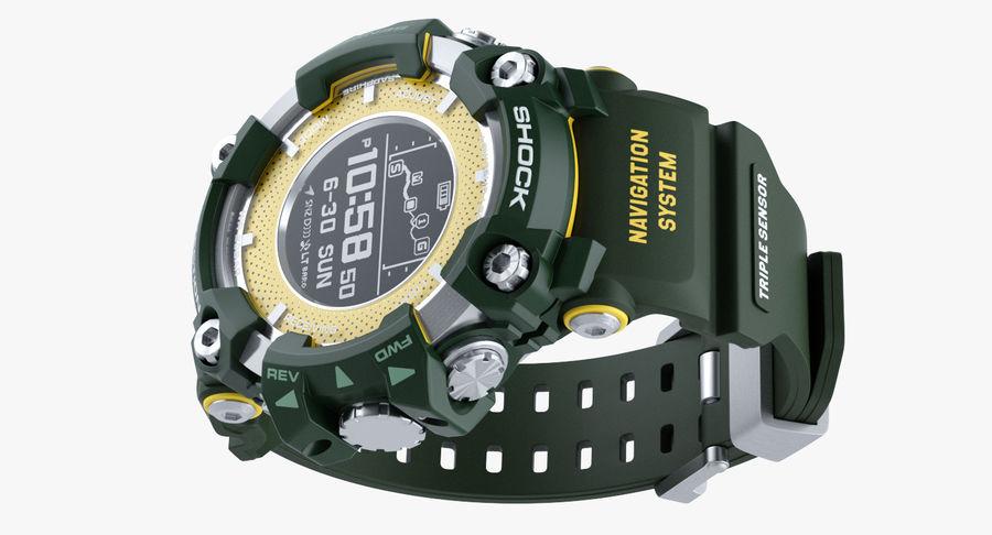 Водонепроницаемый Спорт Военные Часы Ударопрочный royalty-free 3d model - Preview no. 5