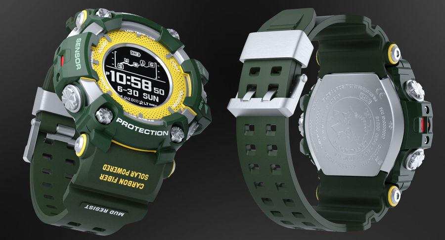 Водонепроницаемый Спорт Военные Часы Ударопрочный royalty-free 3d model - Preview no. 3