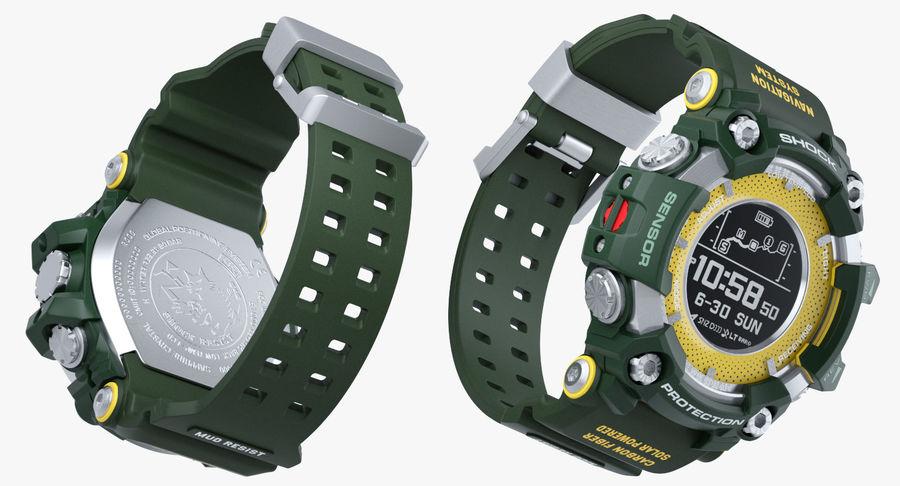 Водонепроницаемый Спорт Военные Часы Ударопрочный royalty-free 3d model - Preview no. 12