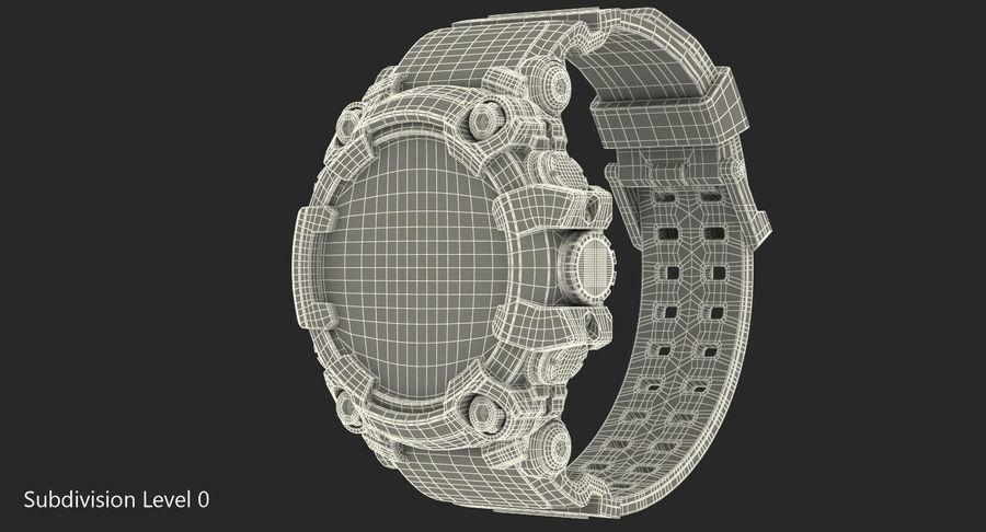 Водонепроницаемый Спорт Военные Часы Ударопрочный royalty-free 3d model - Preview no. 15