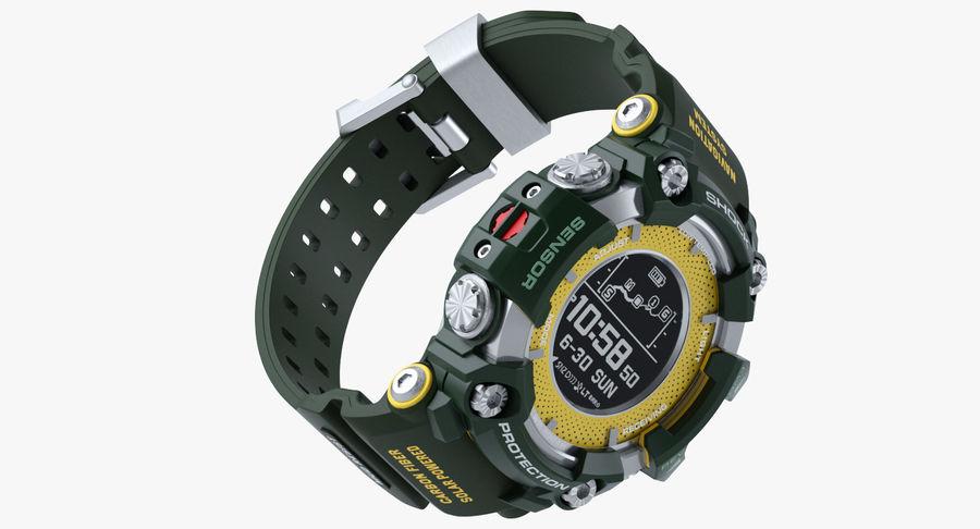 Водонепроницаемый Спорт Военные Часы Ударопрочный royalty-free 3d model - Preview no. 9