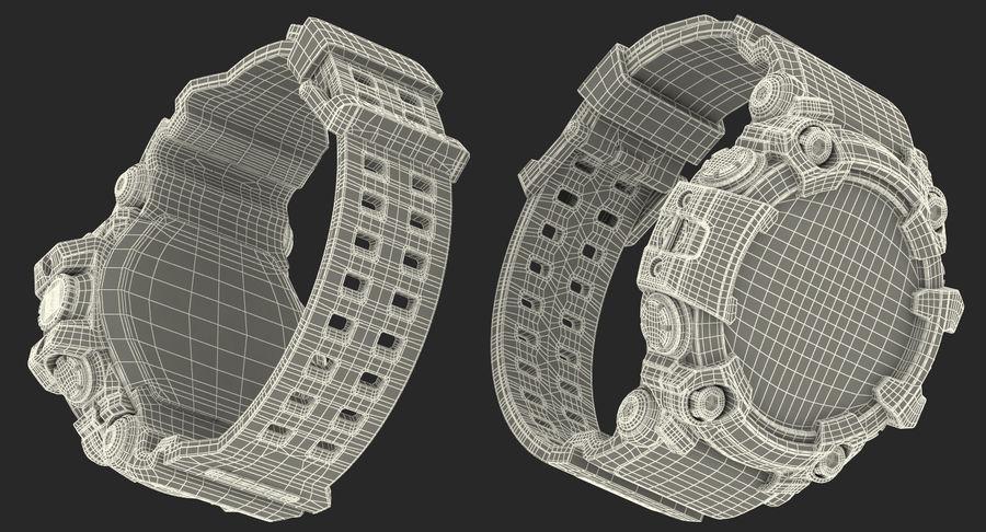 Водонепроницаемый Спорт Военные Часы Ударопрочный royalty-free 3d model - Preview no. 25