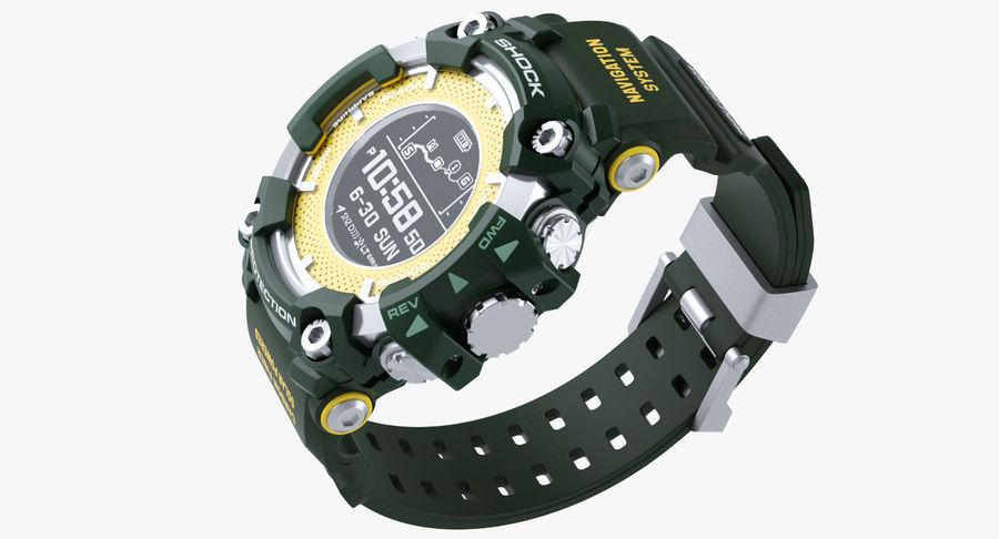 Водонепроницаемый Спорт Военные Часы Ударопрочный royalty-free 3d model - Preview no. 7