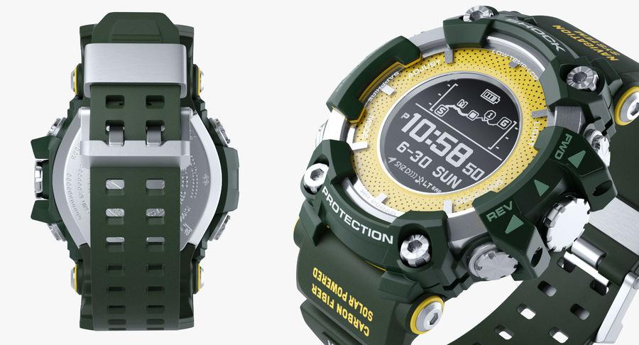 Водонепроницаемый Спорт Военные Часы Ударопрочный royalty-free 3d model - Preview no. 13