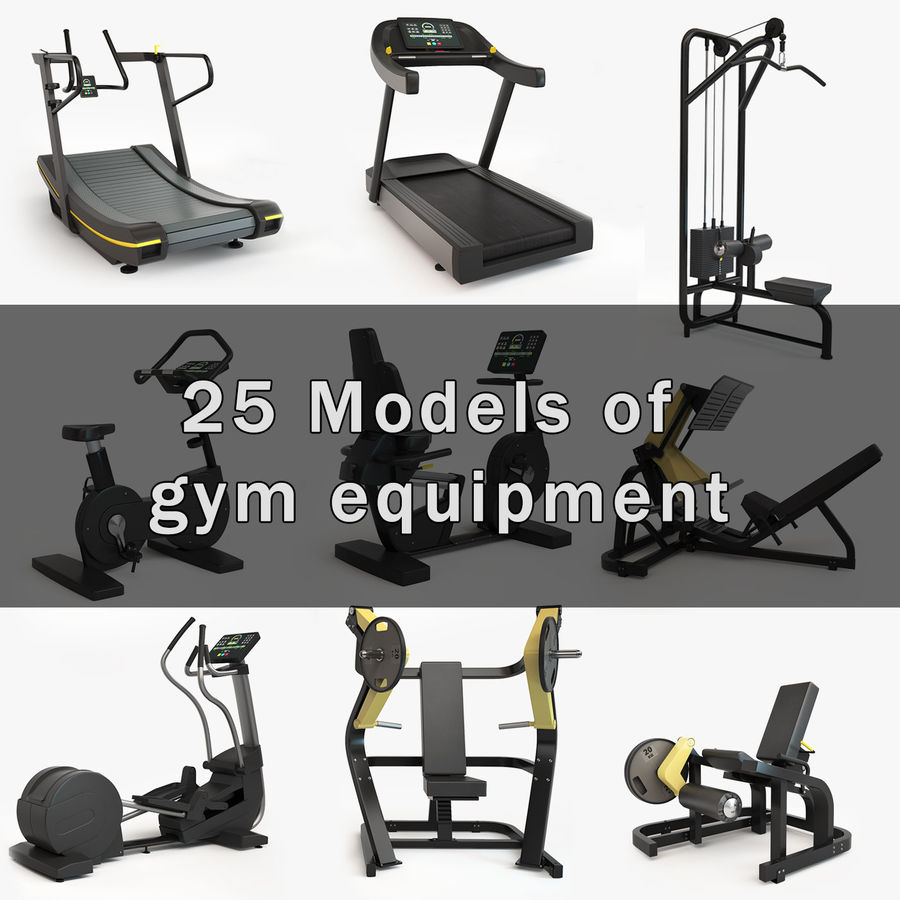 Gym Equipment royalty-free 3d model - Preview no. 1