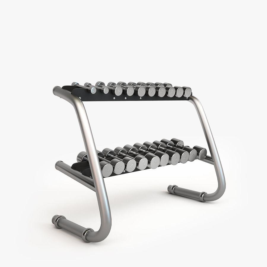 Wyposażenie siłowni royalty-free 3d model - Preview no. 15