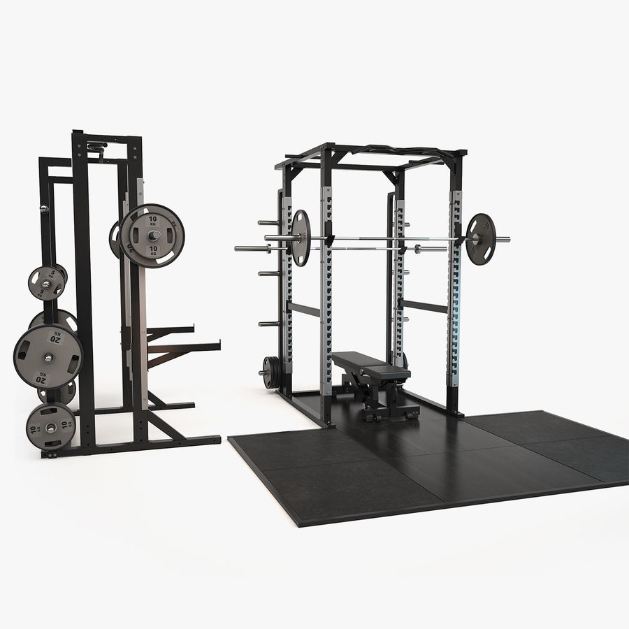 Gym Equipment royalty-free 3d model - Preview no. 17