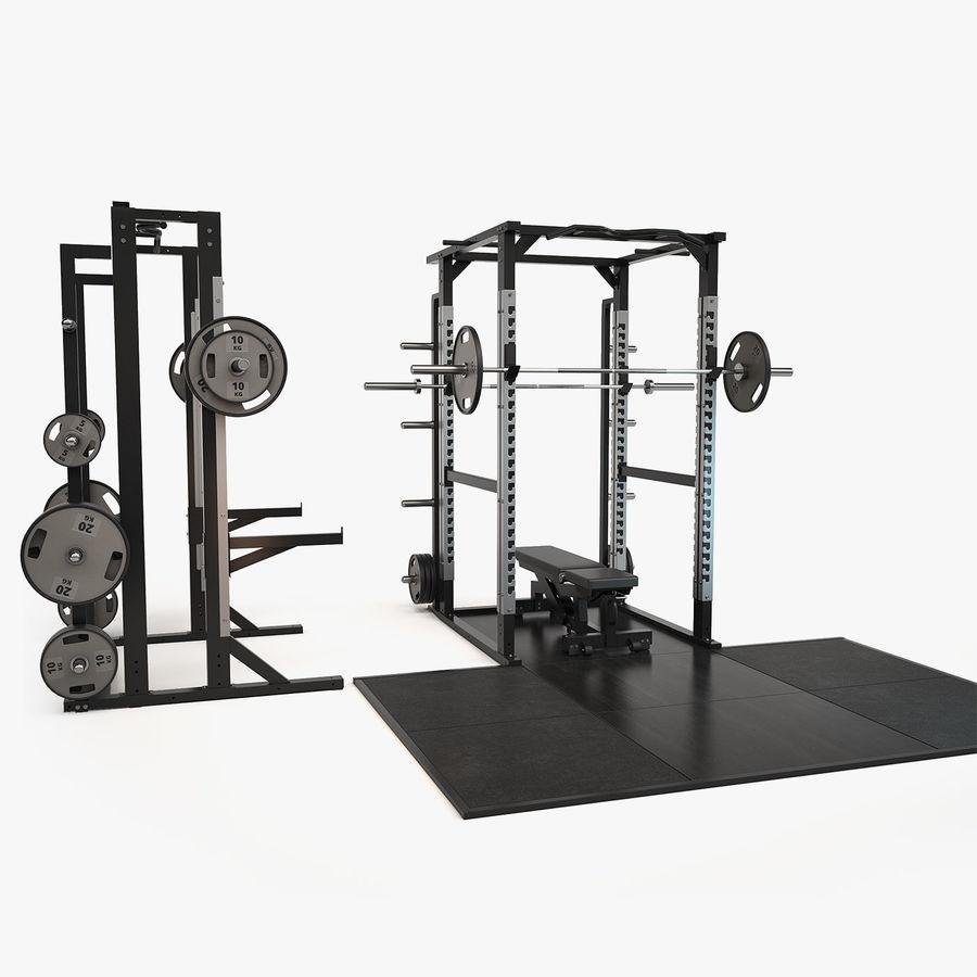 Wyposażenie siłowni royalty-free 3d model - Preview no. 17