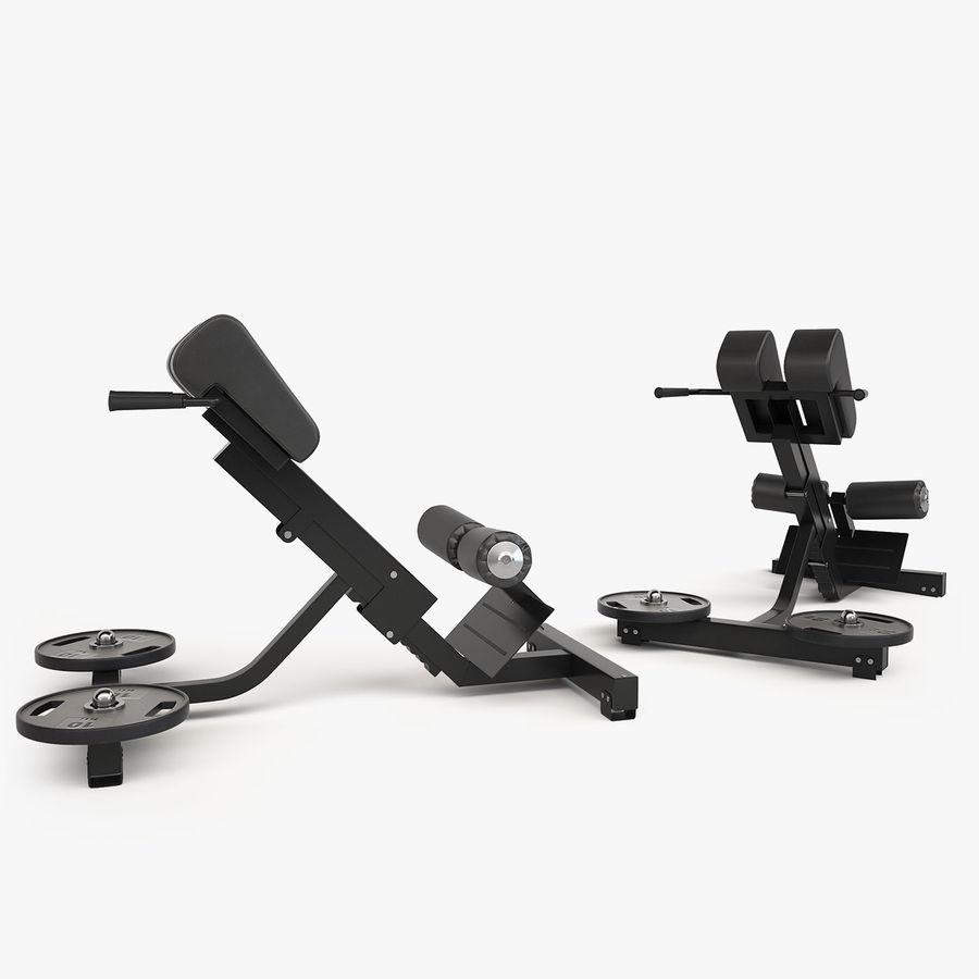 Wyposażenie siłowni royalty-free 3d model - Preview no. 5