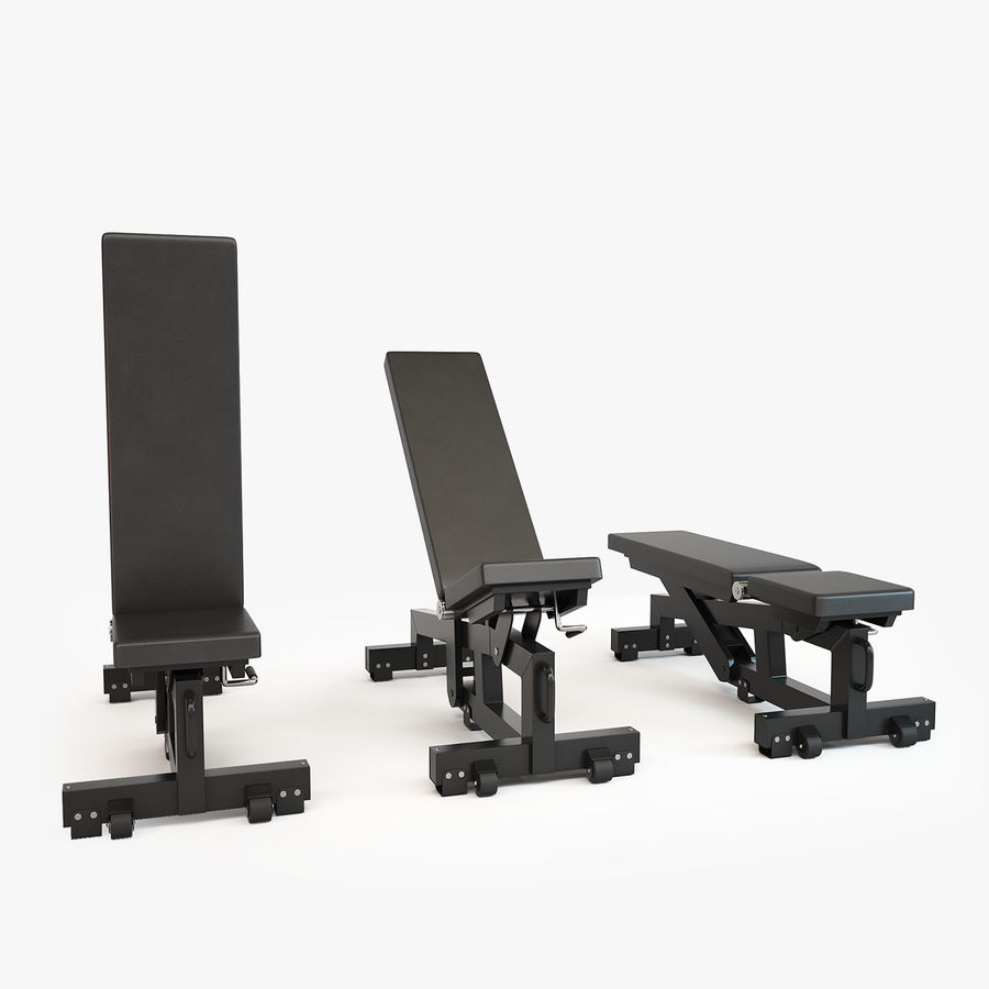 Gym Equipment royalty-free 3d model - Preview no. 3