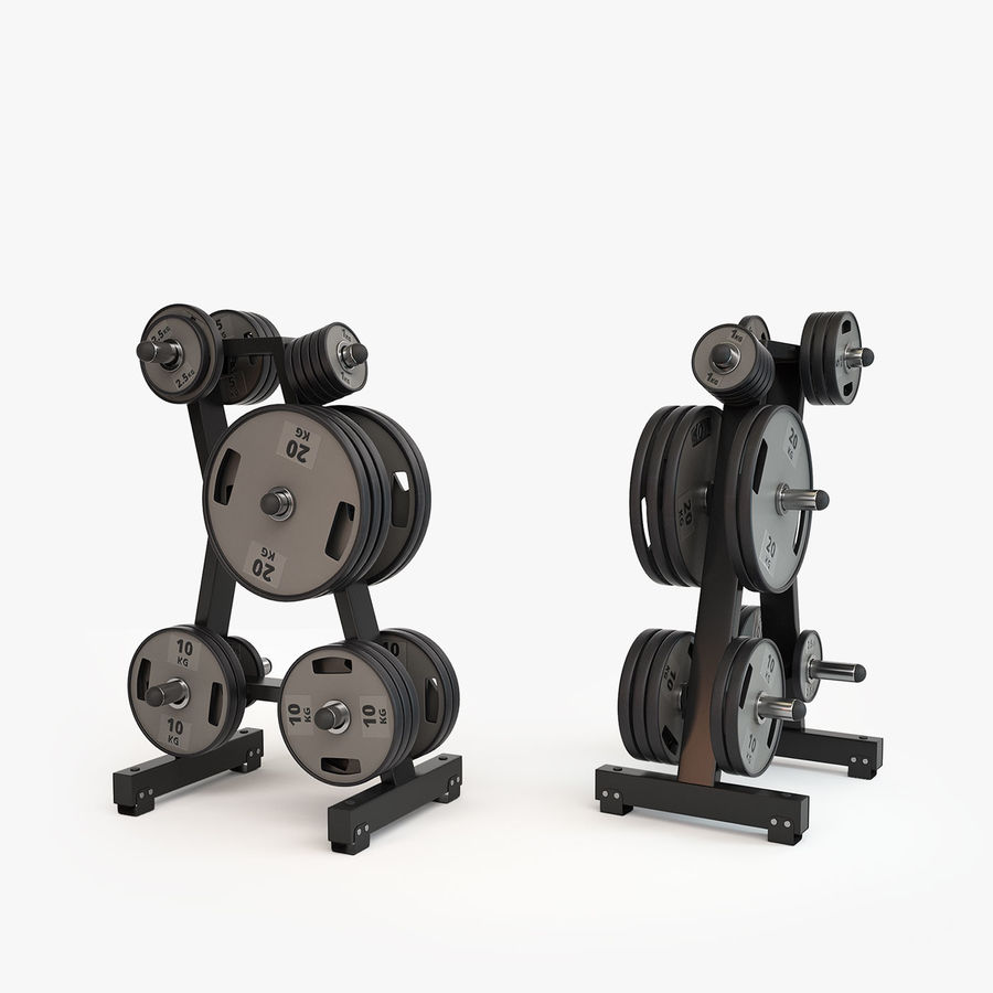 Gym Equipment royalty-free 3d model - Preview no. 2