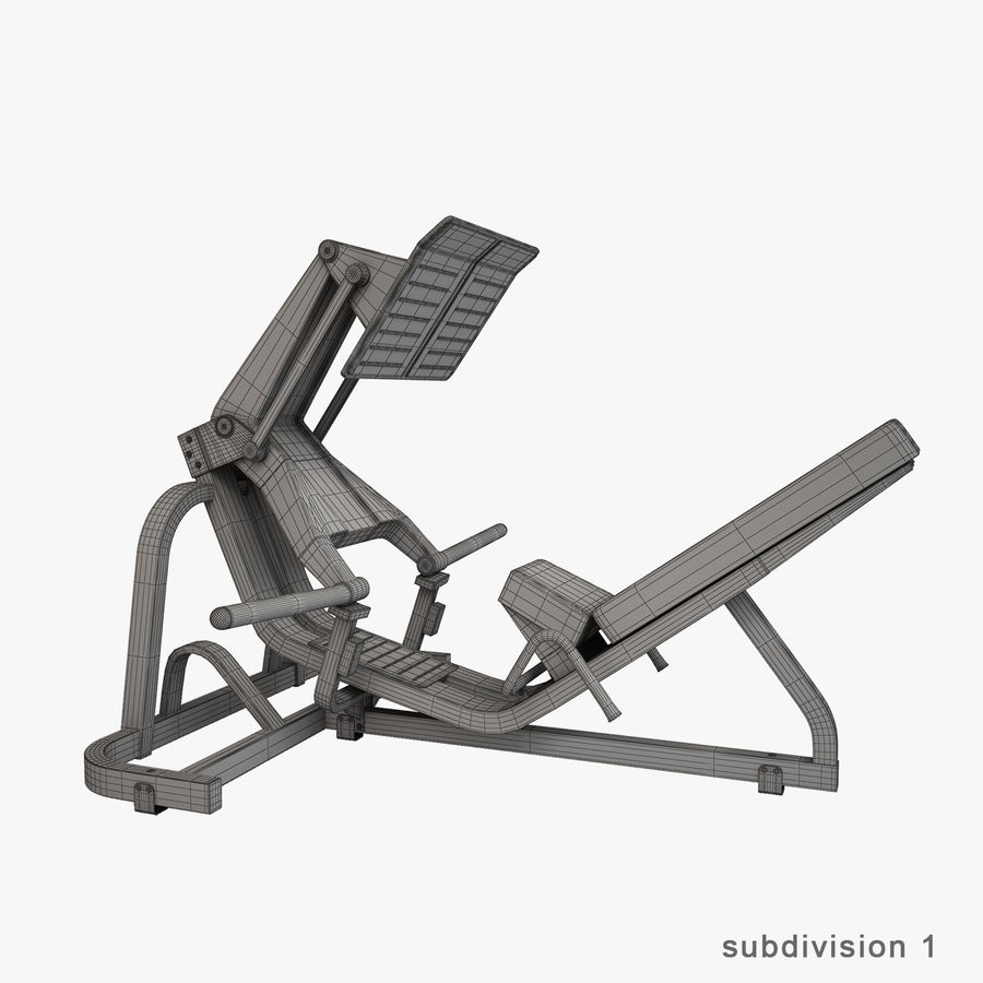 Gym Equipment royalty-free 3d model - Preview no. 31