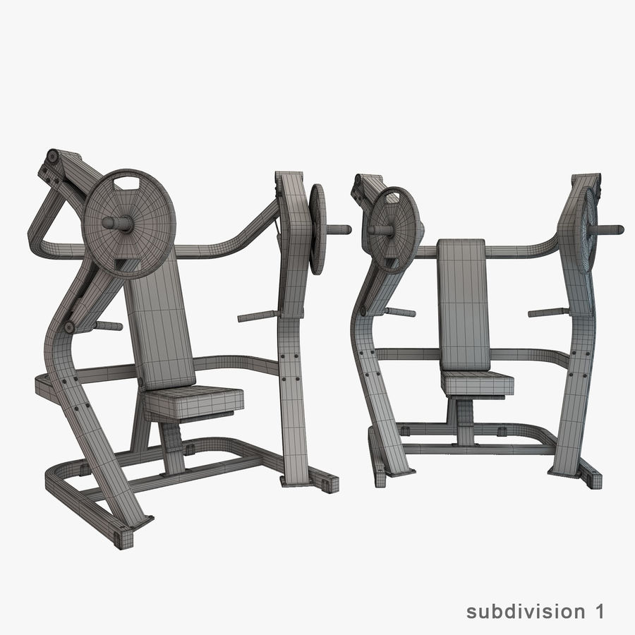 Gym Equipment royalty-free 3d model - Preview no. 29