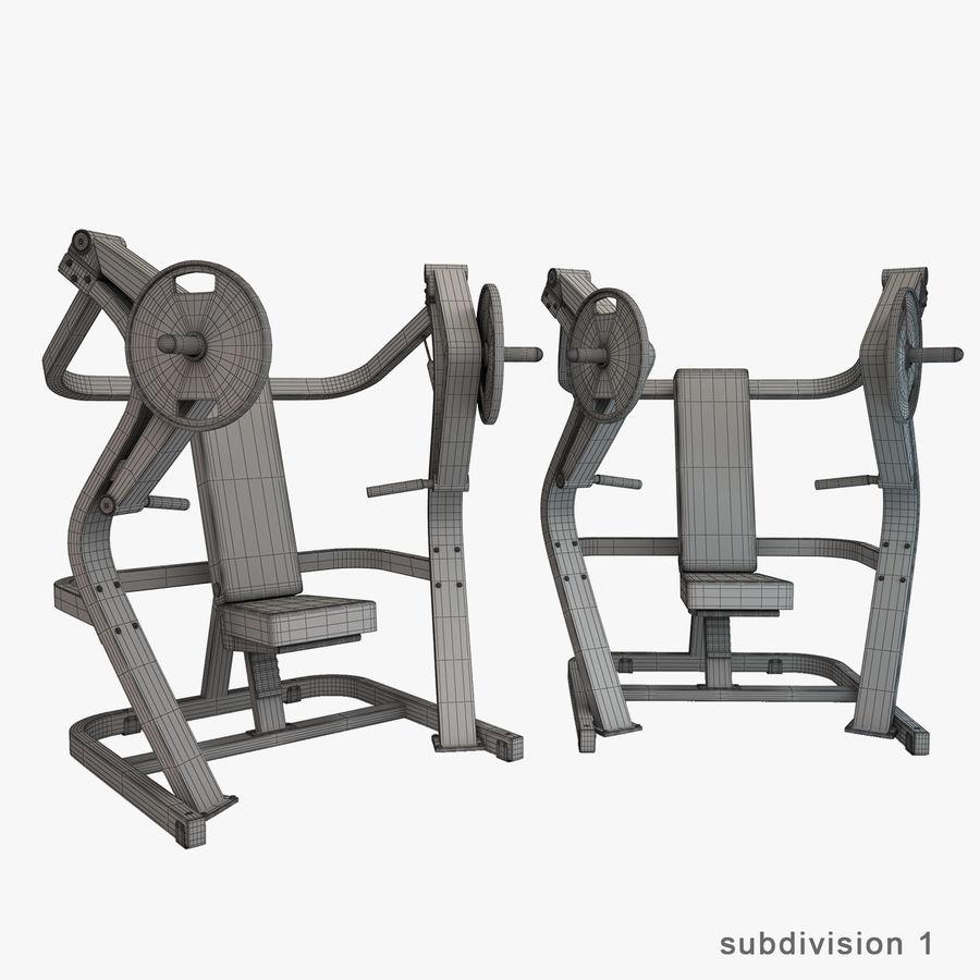 Wyposażenie siłowni royalty-free 3d model - Preview no. 29