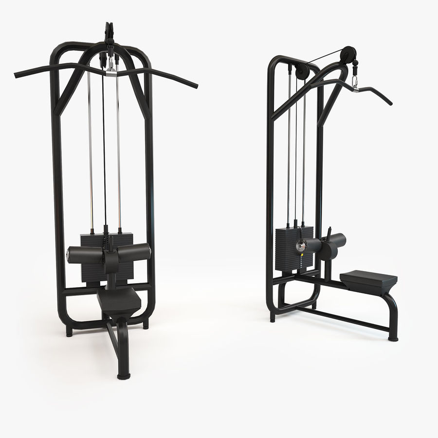 Gym Equipment royalty-free 3d model - Preview no. 19