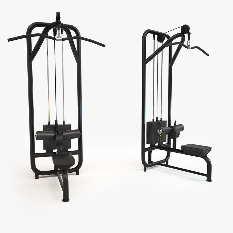 Wyposażenie siłowni royalty-free 3d model - Preview no. 19