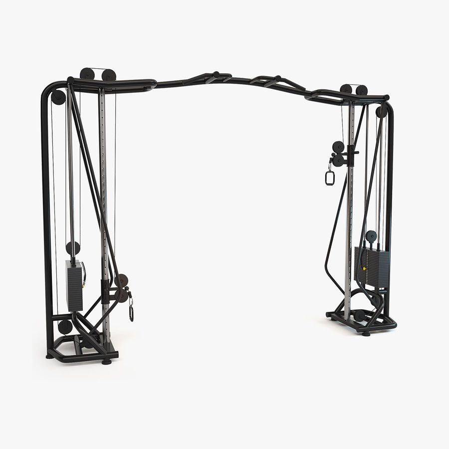 Gym Equipment royalty-free 3d model - Preview no. 18