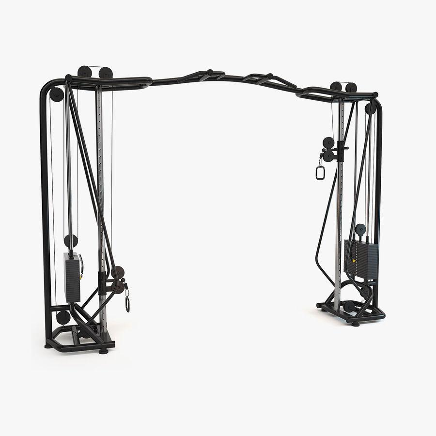 Wyposażenie siłowni royalty-free 3d model - Preview no. 18