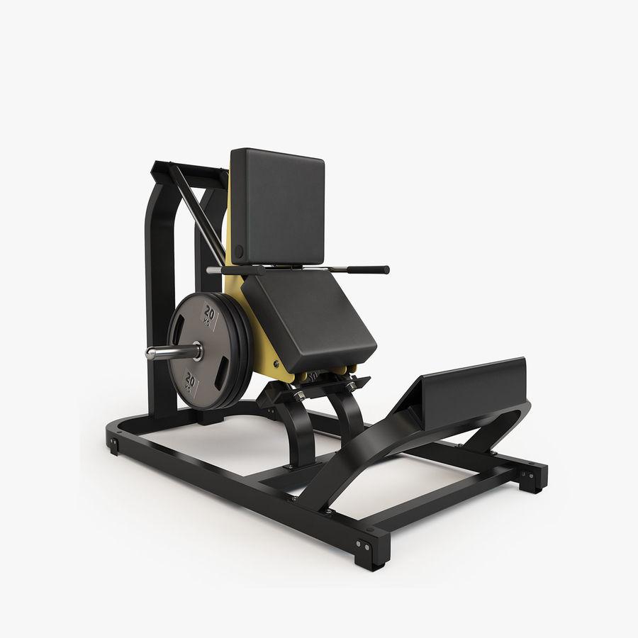 Wyposażenie siłowni royalty-free 3d model - Preview no. 24