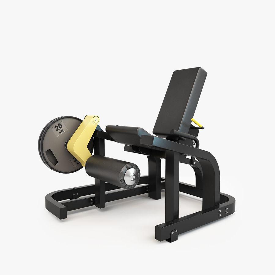 Wyposażenie siłowni royalty-free 3d model - Preview no. 23