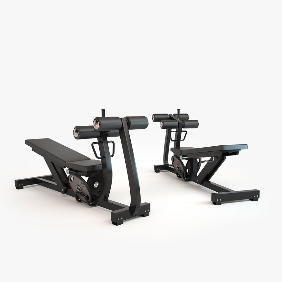 Gym Equipment royalty-free 3d model - Preview no. 6