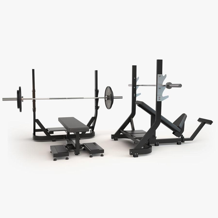 Wyposażenie siłowni royalty-free 3d model - Preview no. 16