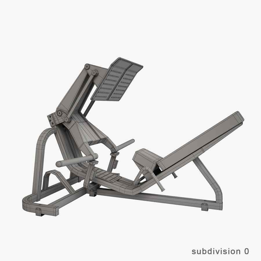 Gym Equipment royalty-free 3d model - Preview no. 30
