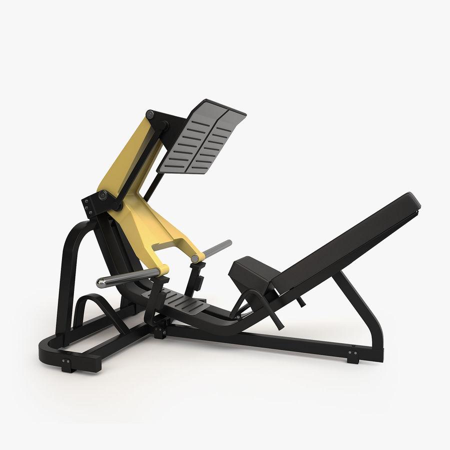 Wyposażenie siłowni royalty-free 3d model - Preview no. 22