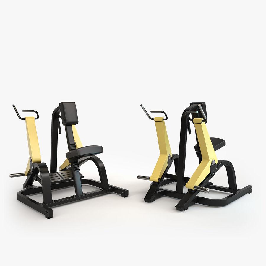 Wyposażenie siłowni royalty-free 3d model - Preview no. 21