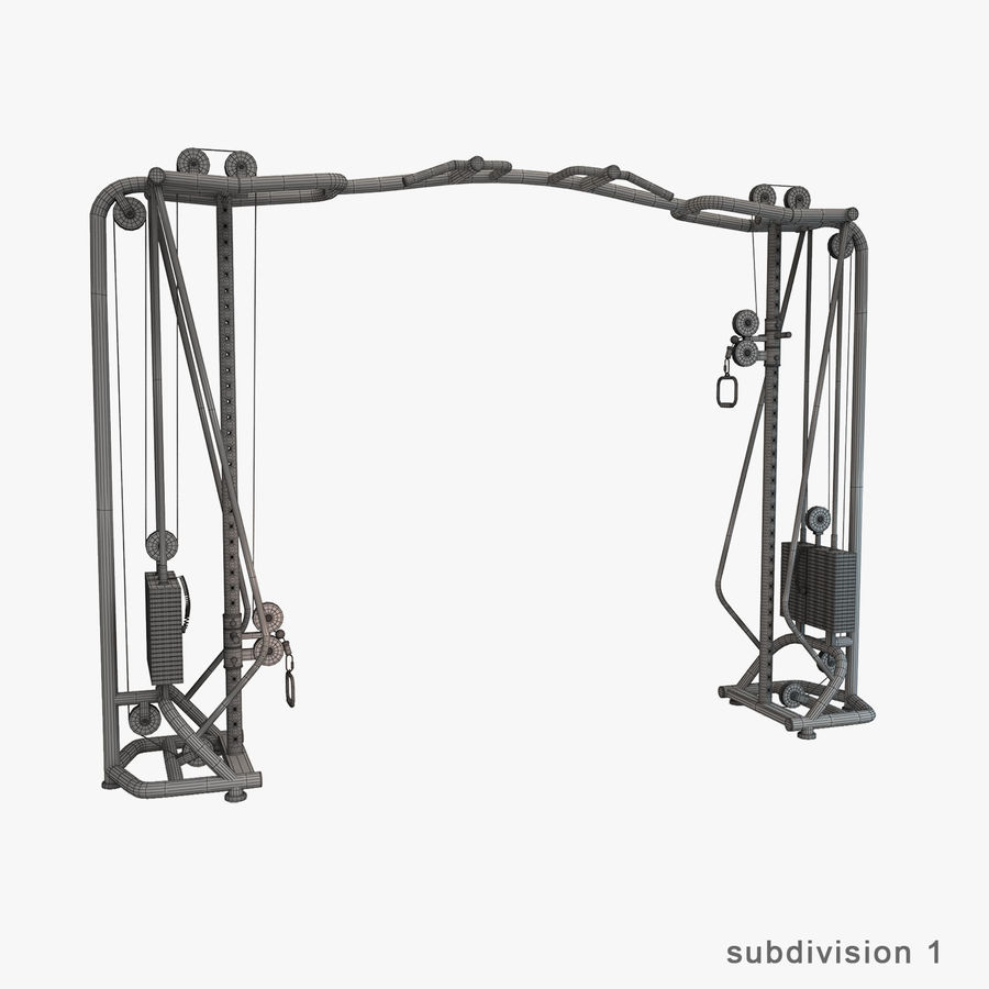 Gym Equipment royalty-free 3d model - Preview no. 27
