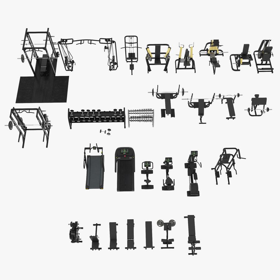 Wyposażenie siłowni royalty-free 3d model - Preview no. 25
