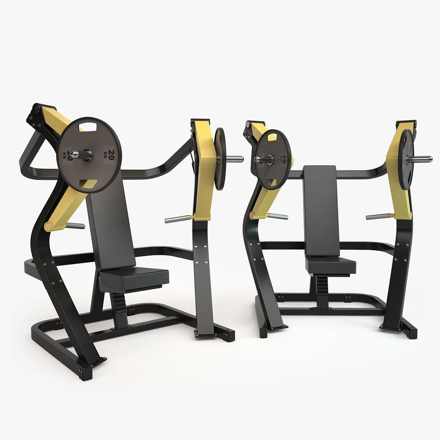 Gym Equipment royalty-free 3d model - Preview no. 20