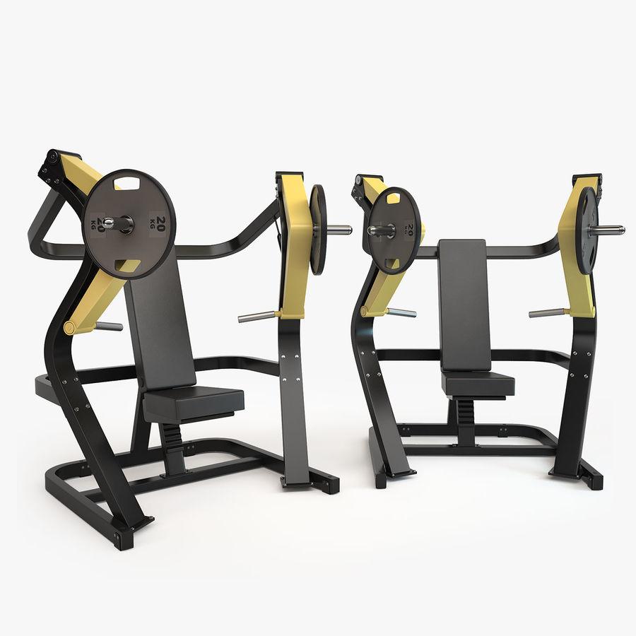 Wyposażenie siłowni royalty-free 3d model - Preview no. 20