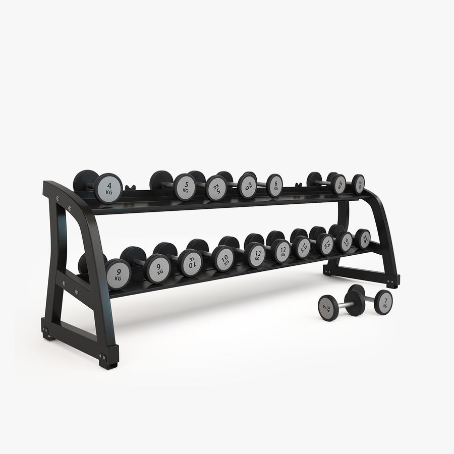 Gym Equipment royalty-free 3d model - Preview no. 13