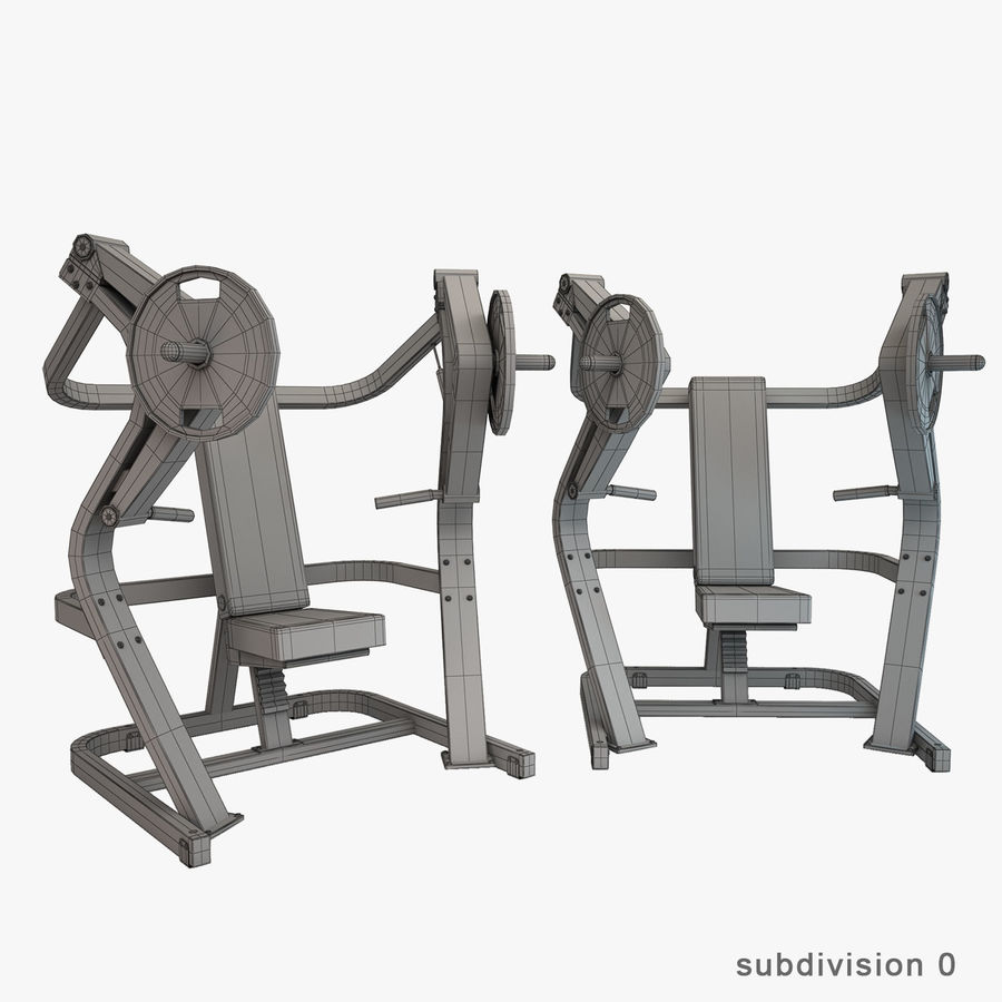 Gym Equipment royalty-free 3d model - Preview no. 28