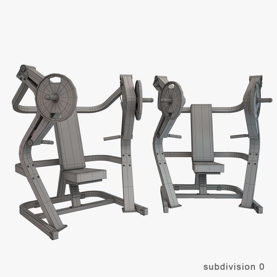 Wyposażenie siłowni royalty-free 3d model - Preview no. 28