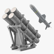MK 141 Missile Launching System With AGM 84 Harpoon Missile 3D Model 3d model