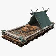 Timber Raft 3D Model 3d model