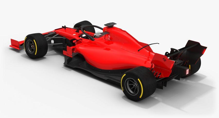 Formula 1 Season 2019  F1 Race Car royalty-free 3d model - Preview no. 6