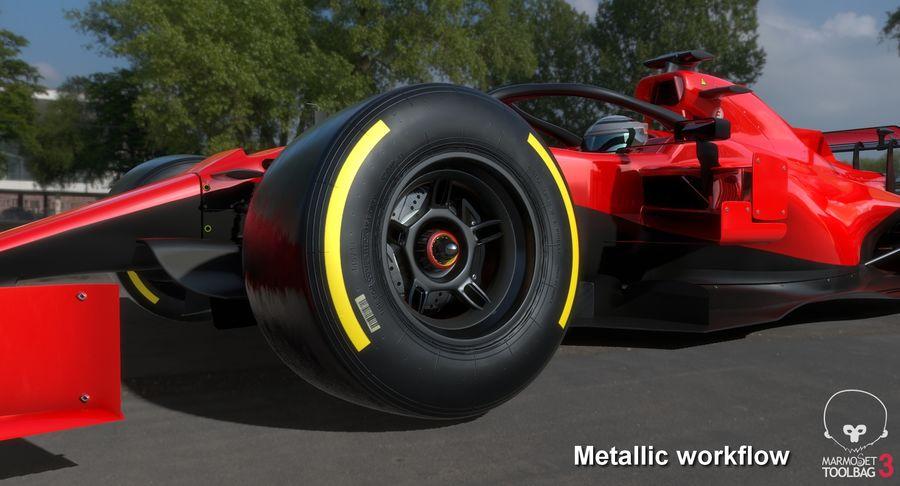 Formula 1 Season 2019  F1 Race Car royalty-free 3d model - Preview no. 29
