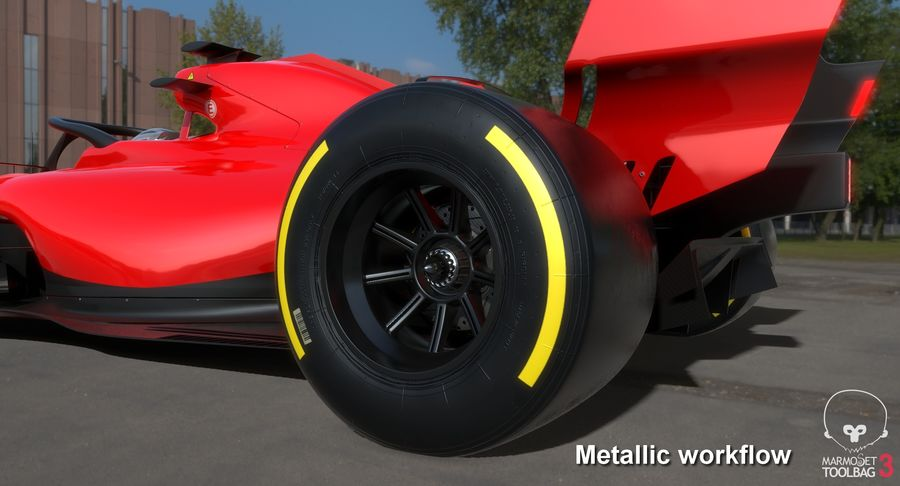 Formula 1 Season 2019  F1 Race Car royalty-free 3d model - Preview no. 30