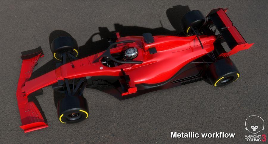 Formula 1 Season 2019  F1 Race Car royalty-free 3d model - Preview no. 31