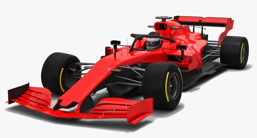 Formula 1 Season 2019  F1 Race Car royalty-free 3d model - Preview no. 3