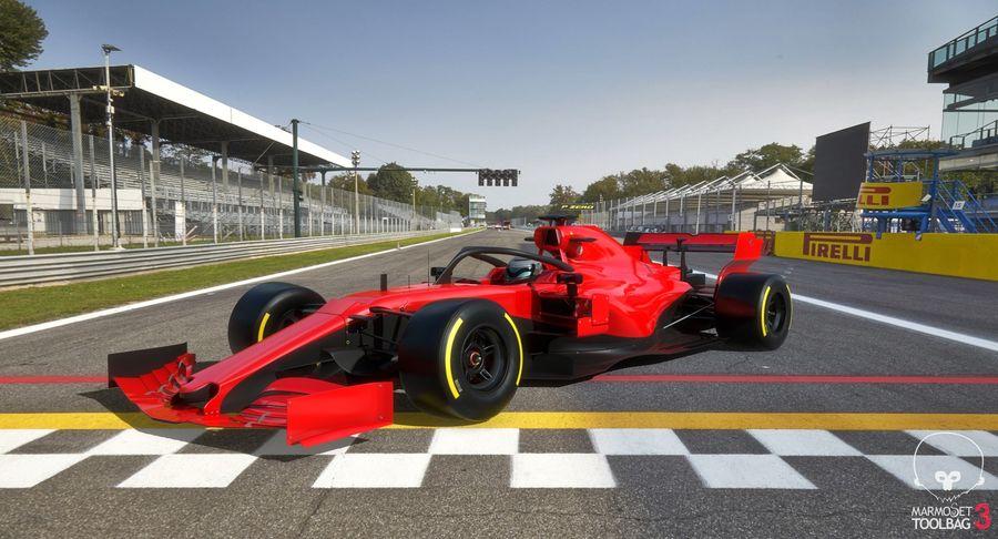 Formula 1 Season 2019  F1 Race Car royalty-free 3d model - Preview no. 11